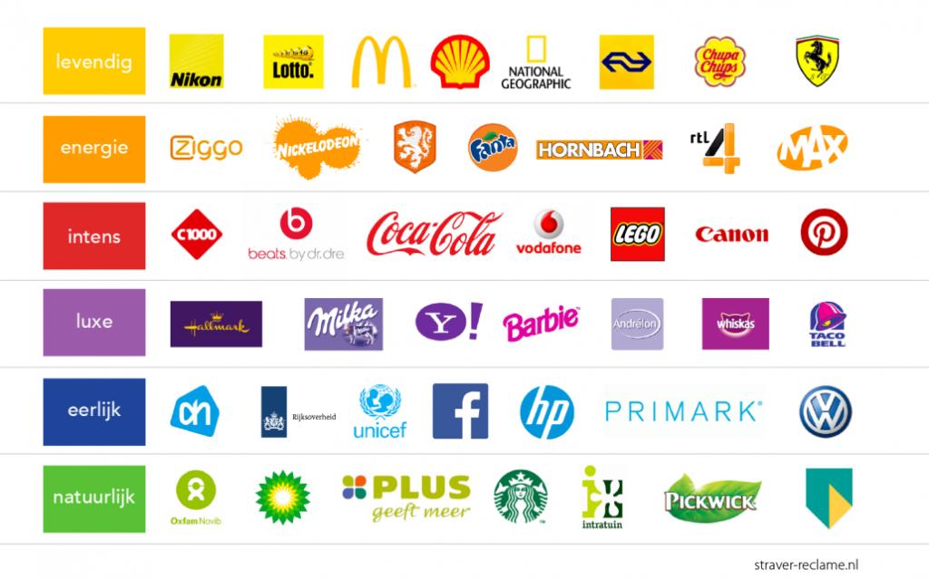 Kleuren logo's